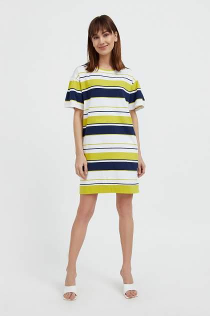 Повседневное платье женское Finn Flare S21-14052 зеленое M