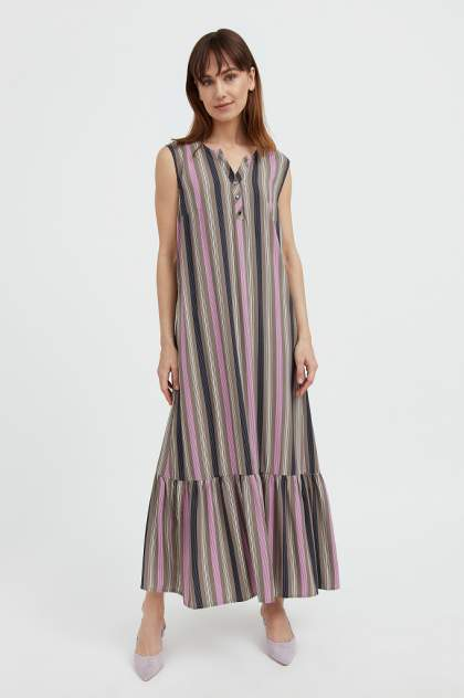 Женское платье Finn Flare S21-14079, коричневый