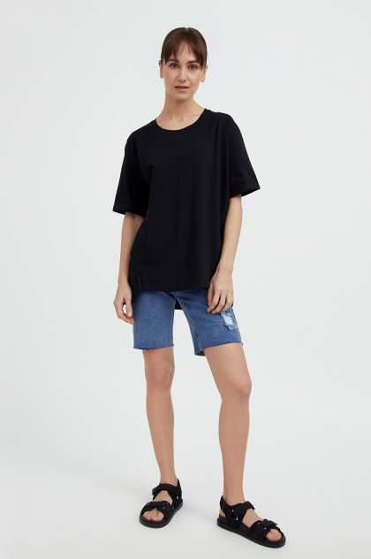 Джинсовые шорты женские Finn Flare S21-15009 синие 2XL