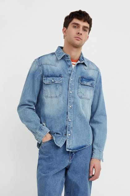 Мужская джинсовая куртка Finn Flare B21-25019, голубой