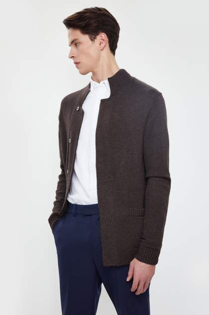Кардиган мужской Finn Flare A20-21109 коричневый 2XL