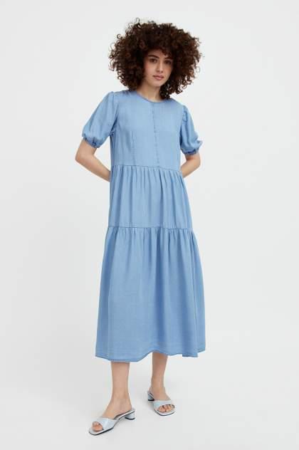 Повседневное платье женское Finn Flare S21-15008 синее M