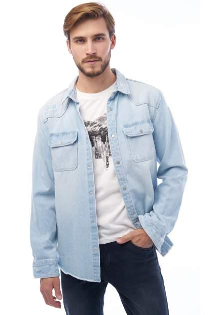 Джинсовая куртка мужская Tom Farr T4F M2405.32 голубая 50
