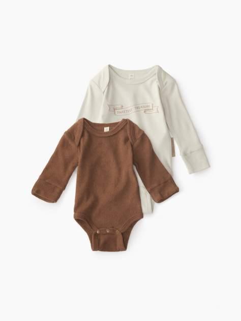 Боди детское Happy Baby, цв. бежевый, коричневый