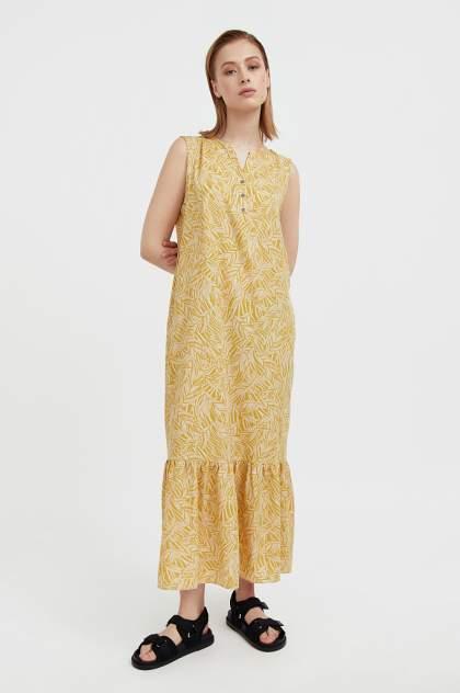 Женское платье Finn Flare S21-14082, зеленый