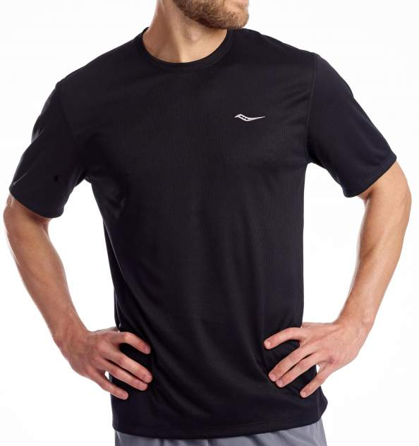 Футболка Беговая Saucony Stopwatch Short Sleeve Black (Us:l)