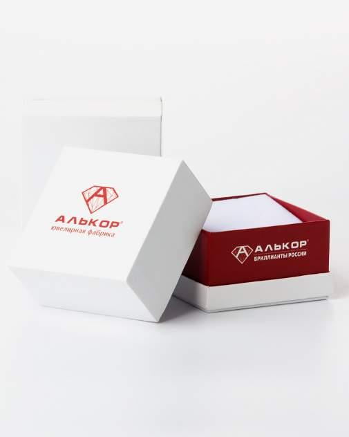 Кольцо из серебра с аметистом и фианитом р. 19 АЛЬКОР 01-0633/00АК-00
