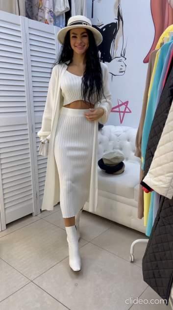 Женский костюм Миллена Шарм 2129-2, белый