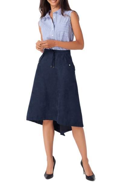 Юбка женская Vilatte D26.341 синяя 56 RU