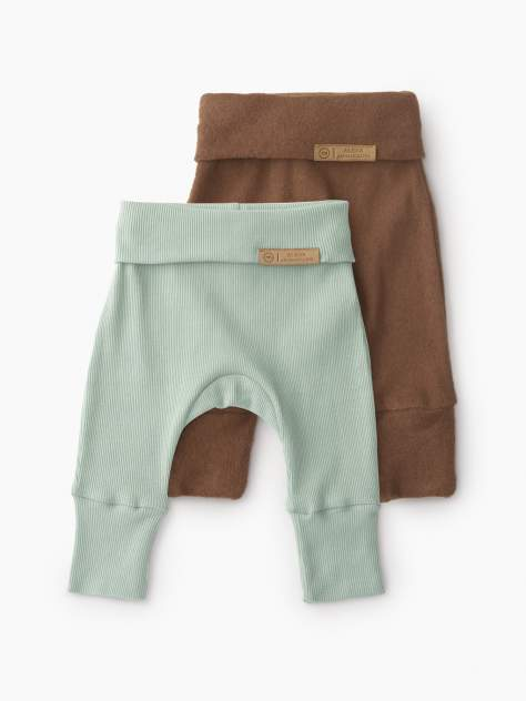 Ползунки by Alena Akhmadullina (набор 2 шт.) (size 80) Happy Baby зеленый, коричневый 80