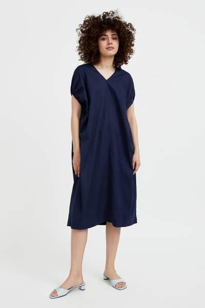 Повседневное платье женское Finn Flare S21-11081 синее XL/2XL