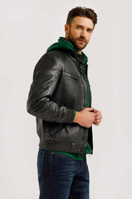 Кожаная куртка мужская Finn Flare B20-21802 серая 54