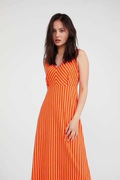 Повседневное платье женское Finn Flare S20-32080 красное 52