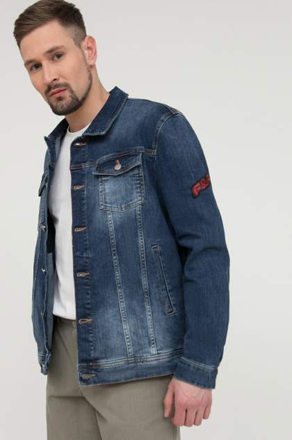 Мужская джинсовая куртка Finn Flare S20-25003, синий