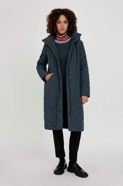 Пальто женское Finn Flare A20-11008 зеленое 58