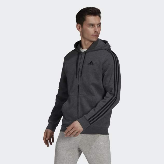 Толстовка мужская Adidas M 3S FL FZ HD, серый
