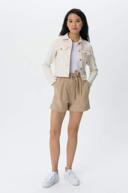 Джинсовая куртка женская Guess W02N26D4061 бежевая XS