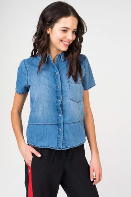 Джинсовая рубашка женская Noisy may 27005584 синяя XS