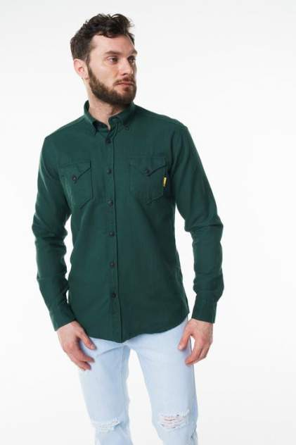Рубашка мужская Sahera Rahmani 9011417-41 зеленая 56