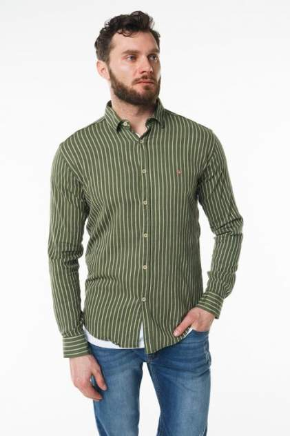 Рубашка мужская Sahera Rahmani 9011417-42 зеленая 56