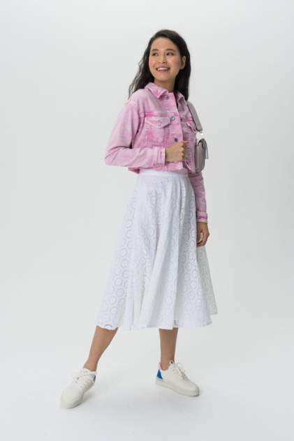 Джинсовая куртка женская Guess W02N08D2G6F розовая M