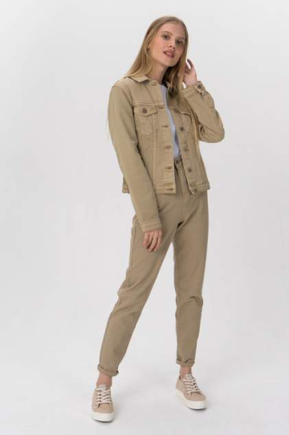 Джинсовая куртка женская Tom Farr T4F W2904.14 бежевая 46 RU