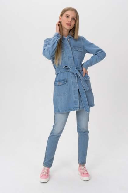 Джинсовая куртка женская Tom Farr T4F W2908.33 голубая 46 RU