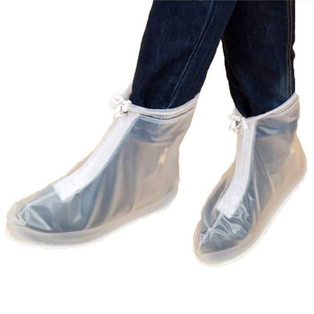 Защитные чехлы для обуви Baziator от дождя и грязи с подошвой прозрачные XXL