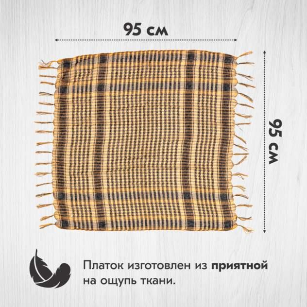 Шарф-арафатка унисекс Asiyah AY-SCF2-01 оранжевый, 95х95 см
