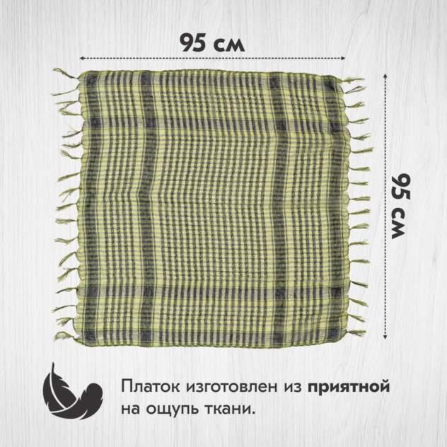 Шарф-арафатка унисекс Asiyah AY-SCF2-01 зеленый, 95х95 см