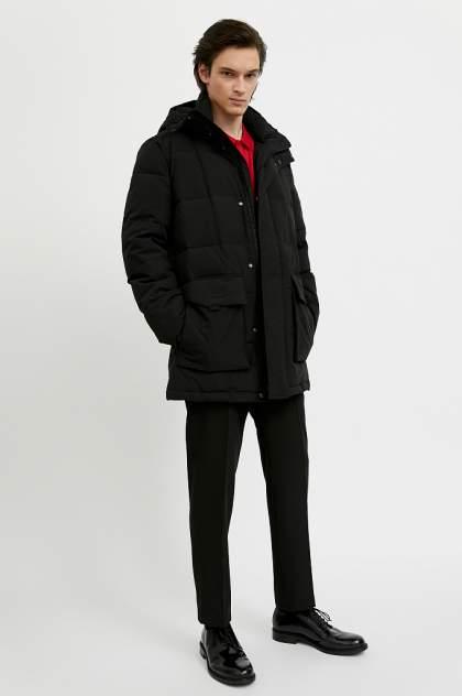 Полупальто мужское Finn Flare A20-42013 черные 50