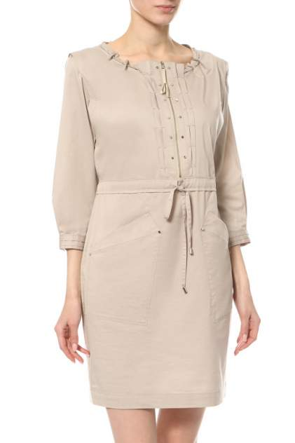 Платье женское ElieTahari E2017600/76768/D9D бежевое 40 IT