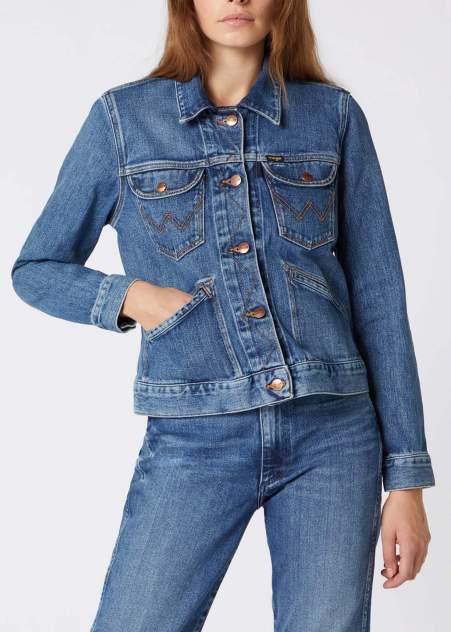 Джинсовая куртка женская Wrangler W4WJZ413V синяя XS