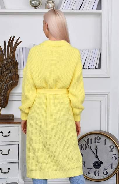Кардиган женский MILANIKA 1202-1 желтый 48 RU