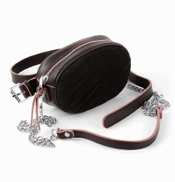 Поясная сумка женская Fuzi house 01813 коричневая
