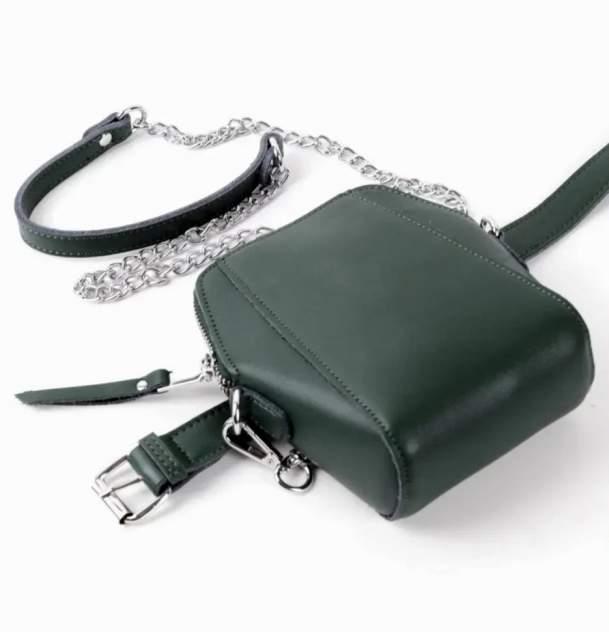 Поясная сумка женская Fuzi house 1824 зеленая