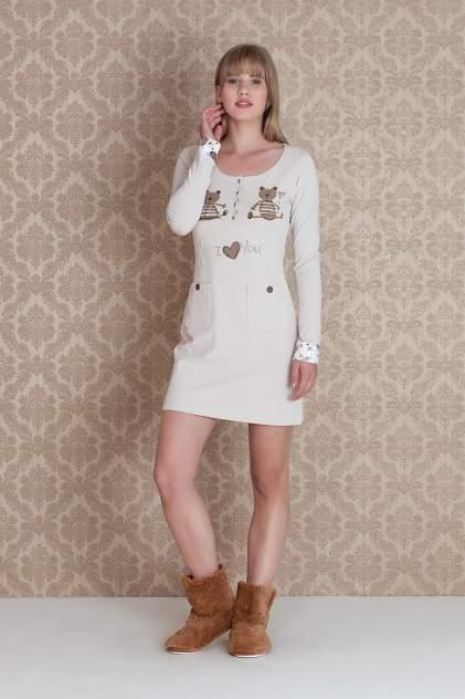 Домашнее платье женское HayS Browni Sleeve бежевое L