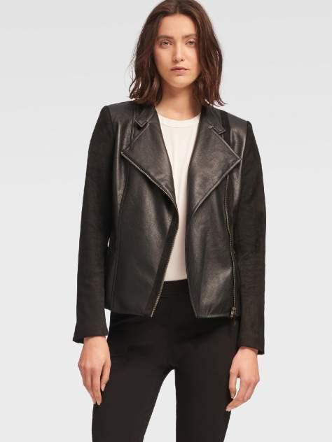 Кожаная куртка женская DKNY P8JCRDT0/BLKS черная S