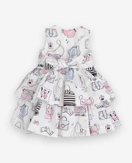 Платье для девочек Gulliver, цв. белый, р.86