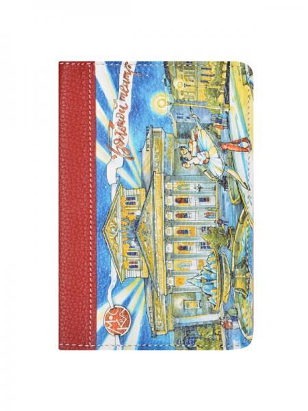 Обложка для паспорта Woodsurf FACES&PLACES Большой театр красная