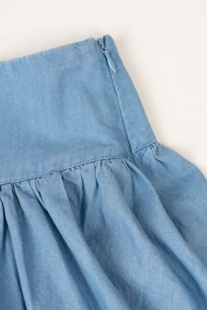 Юбка для девочки Button Blue, цв.голубой, р-р 122