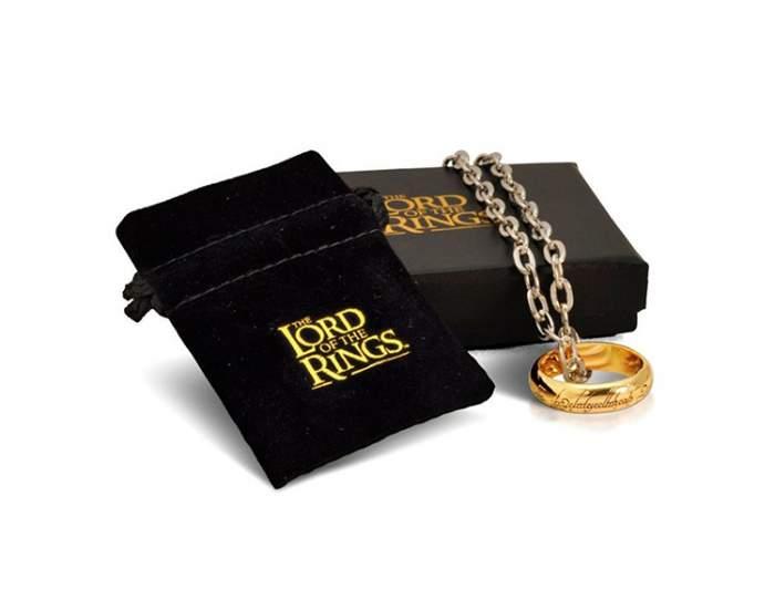 Подвеска унисекс The Noble Collection Кольцо Всевластья золотистая