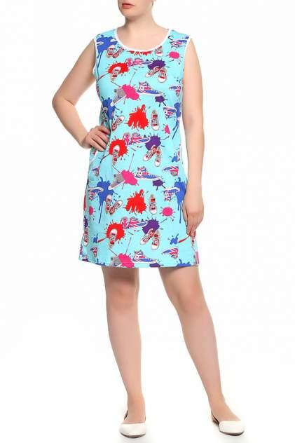 Домашнее платье Веста 16-01-057, голубой