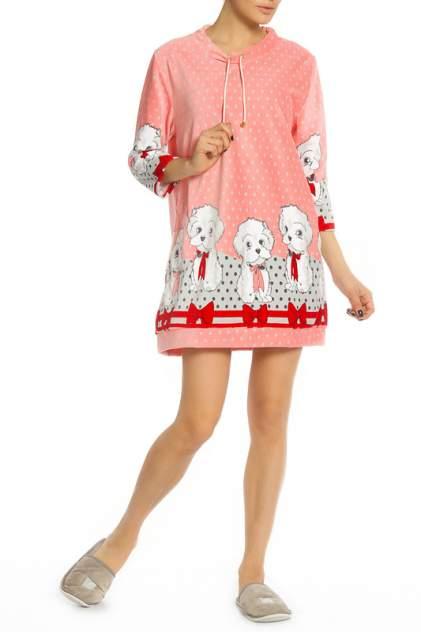 Домашнее платье Веста 17-01-007, розовый
