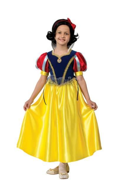 Карнавальный костюм Принцесса Белоснежка, текстиль, размер 28