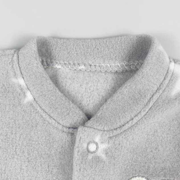 Комбинезон флисовый Twetoon Медвежонок со звёздочкой серый р.56