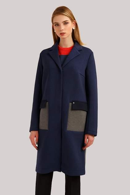 Пальто женское Finn Flare B19-32007 голубое XL