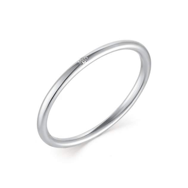 Кольцо женское АЛЬКОР 13423-200 из золота, бриллиант, р. 18.5