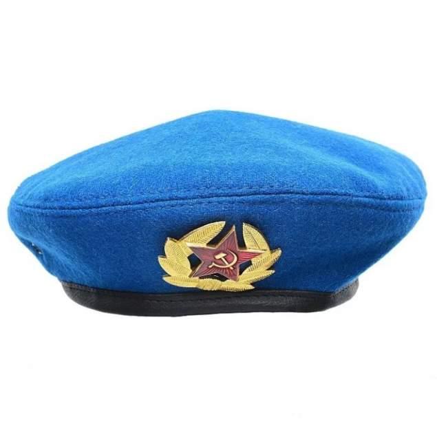 Голубой берет ВДВ с кокардой ВС Markethot размер 54-58
