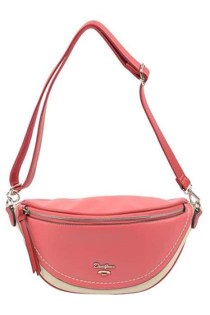 Поясная сумка женская David Jones 6204-1 WATERMELON RED красная